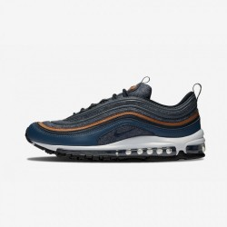 Nike Air Max 97 Premium 312834 400 Blue Thunder Blue/Dark Obsidian Running Shoes