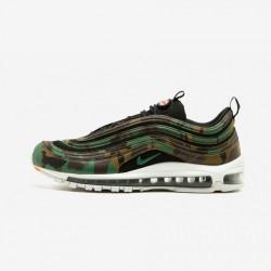 Nike Air Max 97 Premium QS AJ2614 201 Black Raw Umber/Fortress Green-Black Running Shoes