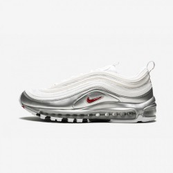 Nike AIR MAX 97 QS AT5458 100 Grey White/Varsity Red Running Shoes