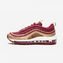 Nike Air Max 97 QS BQ4429 600 Gold Noble Red/Noble Red-Blur Running Shoes