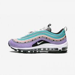 """Nike Air Max 97 SE (GS) """"Have A Nike Day - Space Purple"""" 923288 500 Black Space Purple/White-Black Running Shoes"""