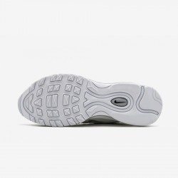 "Nike Air Max 97 ""Triple White"" 921826 101 White White/Wolf Grey-Black Running Shoes"