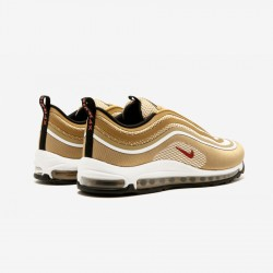 Nike Air Max 97 UL 17 918356 700 Gold Metallic Gold/Varsity Red Running Shoes