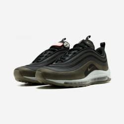 Nike Air Max 97 UL '17 HAL AH9945 001 Black Black/Dark Hazel-Medium Olive Running Shoes