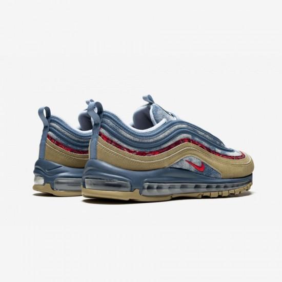 "Nike Air Max 97 ""Wild West"" BV6056 200 Beige Parachute Beige / University R Running Shoes"