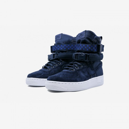 Nike Womens SF AF1 857872 401 Navy Binary Blue/White Running Shoes