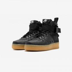 Nike Womens SF AF1 Mid AA3966 002 Black Black / Black-Gum Light Brown Running Shoes