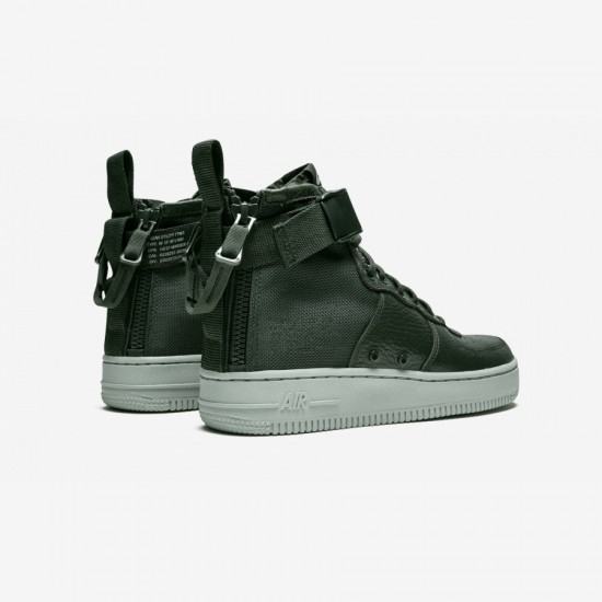"""Nike Womens SF AF1 MID """"Outdoor Green"""" AA3966 300 Green Outdoor Green/Outdoor Green Running Shoes"""