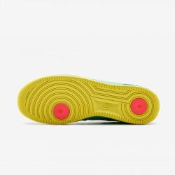 Nike Womens Air Force 1 Premium '07 315186 011 Grey Neutral Grey/White-Azure Running Shoes