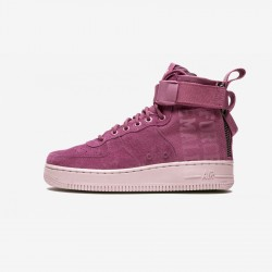 "Nike Womens SF Air Force 1 Mid FIF ""Force Is Female"" AJ1698 600 Violet Vintage Wine/Vintage Wine-Part Running Shoes"