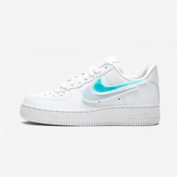 Nike Womens Air Force 1-100 AQ3621 111 Blue White/White-White Running Shoes