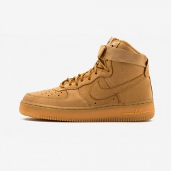Nike Womens Air Force 1 Hi PRM 654440 200 Brown Flax / Flax-Outdoor Green Running Shoes