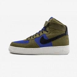 Nike Womens Air Force 1 Hi PRM Suede 845065 300 Black Olive/Flak/Black-Midnight Turq Running Shoes