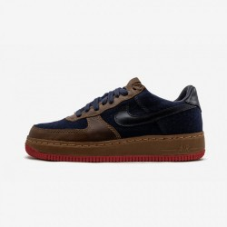 Nike Womens Air Force 1 Low Insideout 309387 441 Blue Obsidian/Obsidian-Bronze Running Shoes