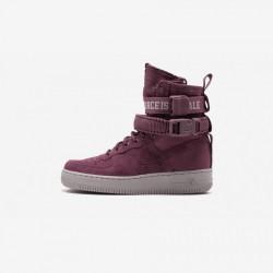 Nike Womens SF AF1 FIF AJ1700 600 Violet Vintage Wine/Vintage Wine Running Shoes