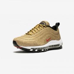 "Nike Air Max 97 LX ""Gold Swarovski"" 927508 700 Gold Metallic Gold/Varsity Red-Blac Running Shoes"