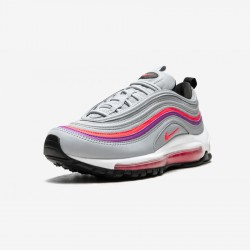 Nike Womens Air Max 97 921733 009 Grey Wolf Grey/Solar Red Running Shoes