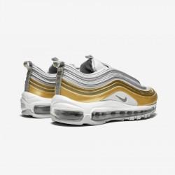 Nike Womens Air Max 97 SE AQ4137 001 Gold Vast Grey/Metallic Silver Running Shoes