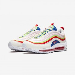 Nike Womens Air Max 97 SE AQ4137 101 Neon Green Sail/Artic Pink-Volt Glow Running Shoes
