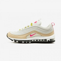 Nike Womens Air Max 97 921733 004 Beige Light Bone/Deadly Pink Running Shoes