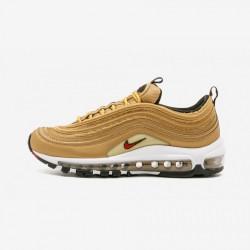 Nike Womens Air Max 97 OG QS 885691 700 Gold Metallic Gold/Varsity Red Running Shoes
