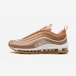 "Nike Womens Air Max 97 UL '17 ""Rose Gold"" 917704 600 Gold Mtlc Rose Gold/Gum Light Brown Running Shoes"