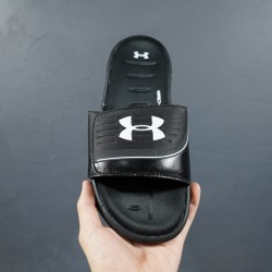2020 Under Armour 8799719 All Black White 36-45 Unisex Sandals