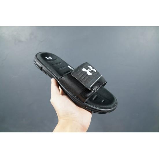 2020 Under Armour 8799719 All Black White 36-45 Unisex Sandals