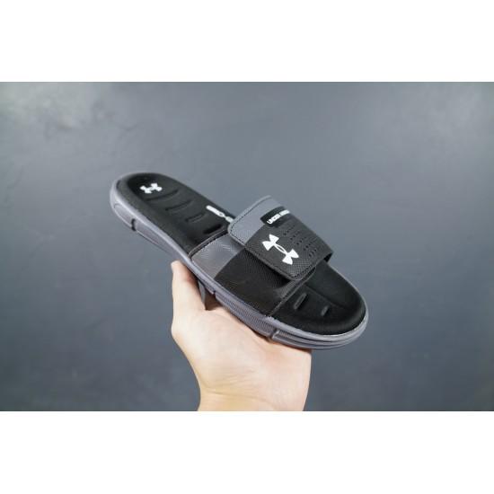 2020 Under Armour 8799719 Black Grey White 36-45 Unisex Sandals
