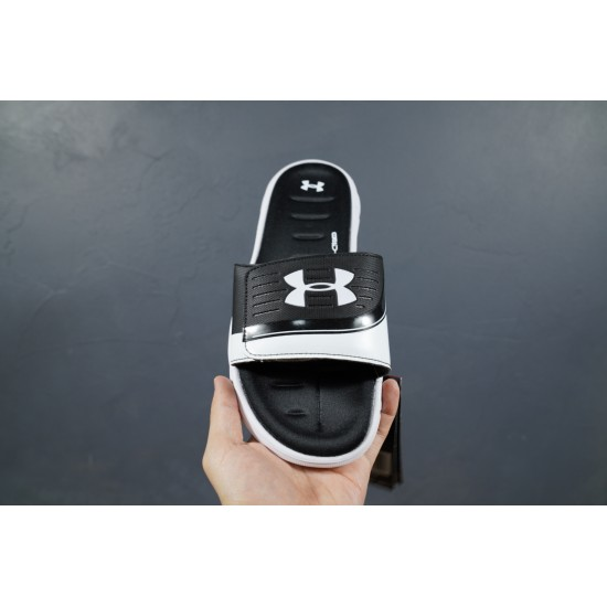 2020 Under Armour 8799719 Black With White 36-45 Unisex Sandals