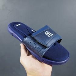 2020 Under Armour 8799719 Dark Blue White 36-45 Unisex Sandals