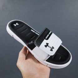 2020 Under Armour 8799719 White And Black 36-45 Unisex Sandals
