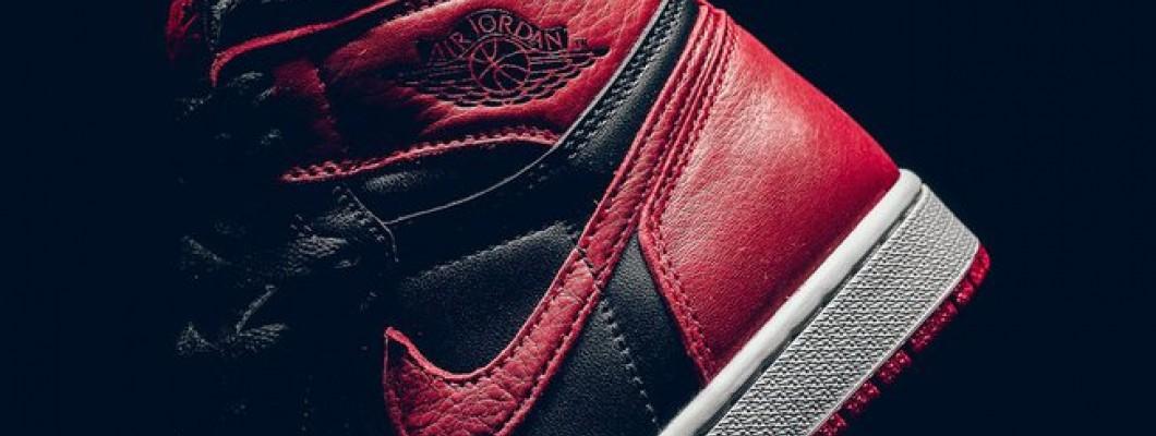 "Air Jordan 1 OG Retro High ""Bred"",Popular Classic Colors."