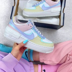 "Nike Air Force 1 Shadow ""White Glacier Blue Ghost"" Running Shoes CI0919 106 WMNS AF1 Sneakers"
