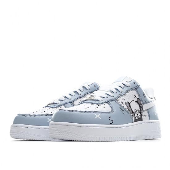 KAWS x Nike Air Force 1 Low White Ltblue CW2268-111 Women Men AF1 Shoes