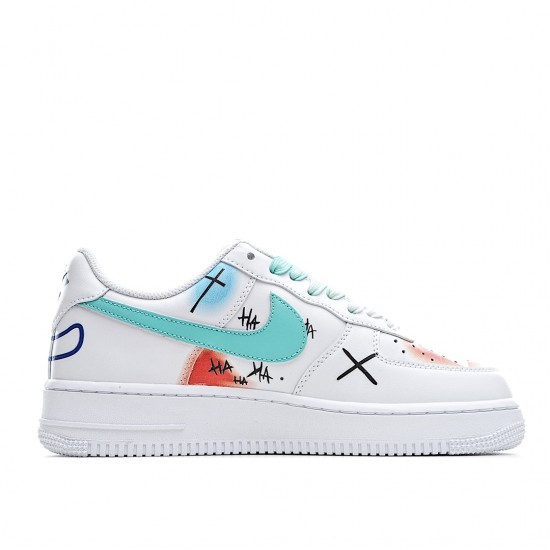 Nike Air Force 1 Low Custom White Blue DM7578-100 Women Men AF1 Shoes