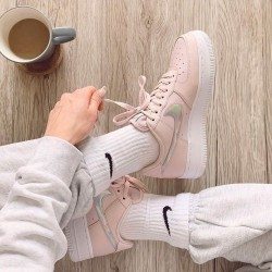 "Nike Air Force 1 Low ""Pink Iridescent"" Running Shoes CJ1646 600 WMNS AF1 Sneakers"
