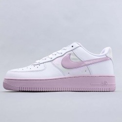 Nike Air Force 1 Low White Barely Grape White Pink Running Shoes Womens CU3449 100 AF1 Sneakers