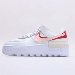 "Nike Air Force 1 Shadow ""Phantom"" Running Shoes CI0919 003 Womens White Red AF1 Sneakers"