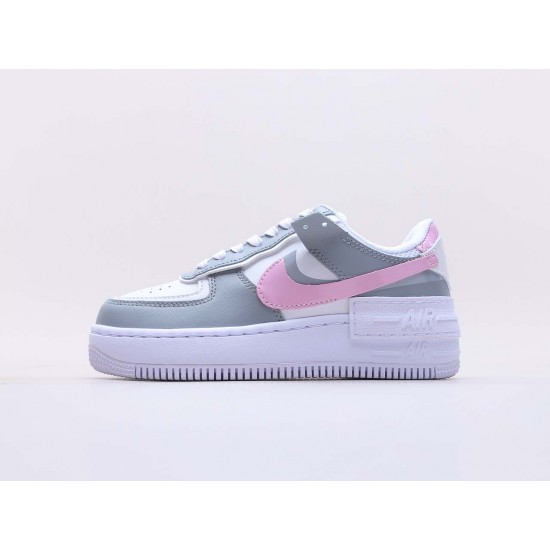 Nike Air Force 1 Shadow Photon Dust Pink Foam CZ0370 100 Womens AF1 Pink Gray Running Shoes