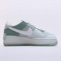 Nike Air Force 1 Shadow Spruce Aura White Running Shoes CW2655 001 AF1 Womens Green Sneakers