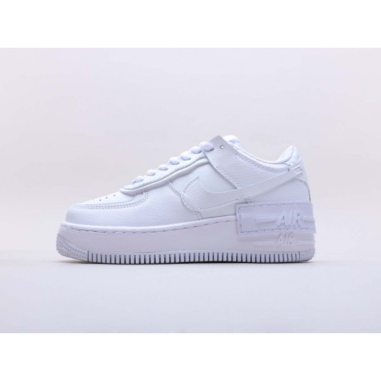 Nike Air Force 1 Shadow Triple White Running Shoes CI0919 100 Womens AF1 Sneakers