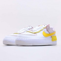 """Nike Air Force 1 Shadow """"White Barely Rose"""" Running Shoes CJ1641 102 WMNS AF1 Sneakers"""