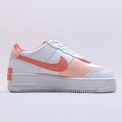 "Nike Air Force 1 Shadow ""White Coral Pink"" Running Shoes CJ1641 101 WMNS AF1 Sneakers"