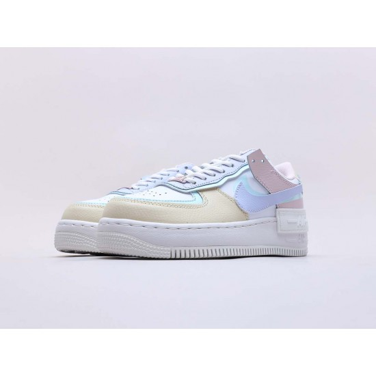 """Nike Air Force 1 Shadow """"White Glacier Blue Ghost"""" Running Shoes CI0919 106 WMNS AF1 Sneakers"""