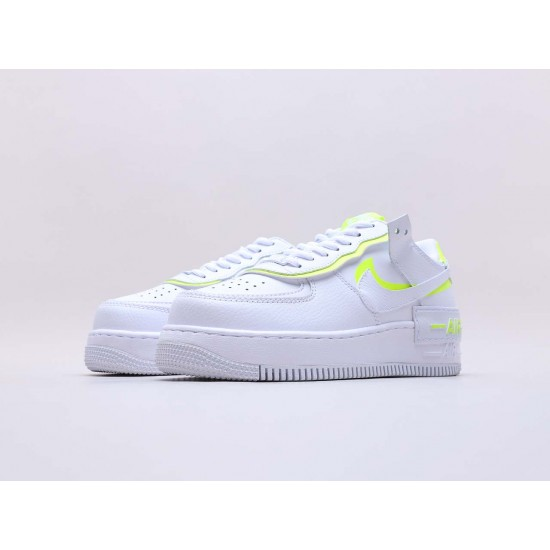 """Nike Air Force 1 Shadow """"White Lemon"""" Running Shoes CI0919 104 WMNS AF1 Sneakers"""