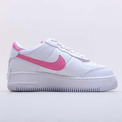 "Nike Air Force 1 Shadow ""White Magic Flamingo"" White/White Magic Flamingo White WMNS Running Shoes CI0919 102"