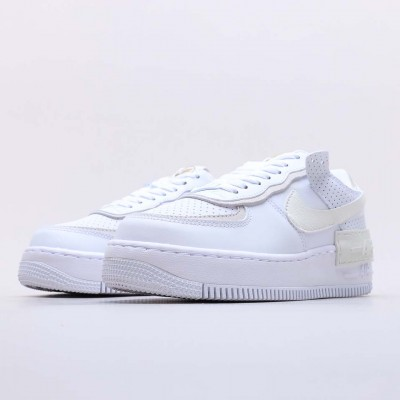 "Nike Air Force 1 Shadow White ""Stone Atomic"" Pink Running Shoes CZ8107 100 Unisex AF1 Beige White Sneakres"
