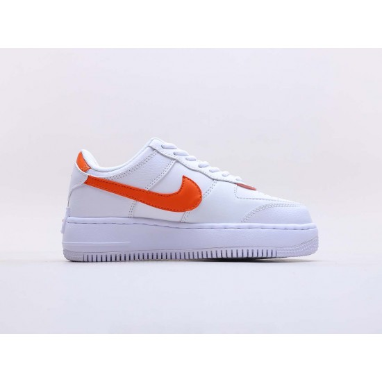 """Nike Air Force 1 Shadow """"White Total Orange"""" Running Shoes CI0919 103 WMNS AF1 Sneakers"""