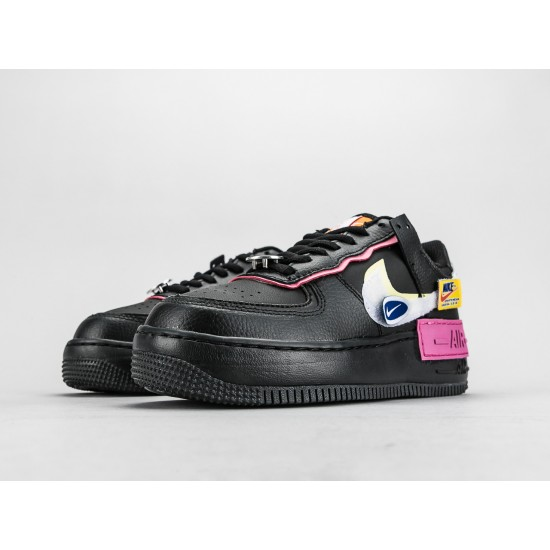 """WMNS Air Force 1 Shadow """"Have a Day"""" CU4743 001 AF1 Black White Running Shoes"""